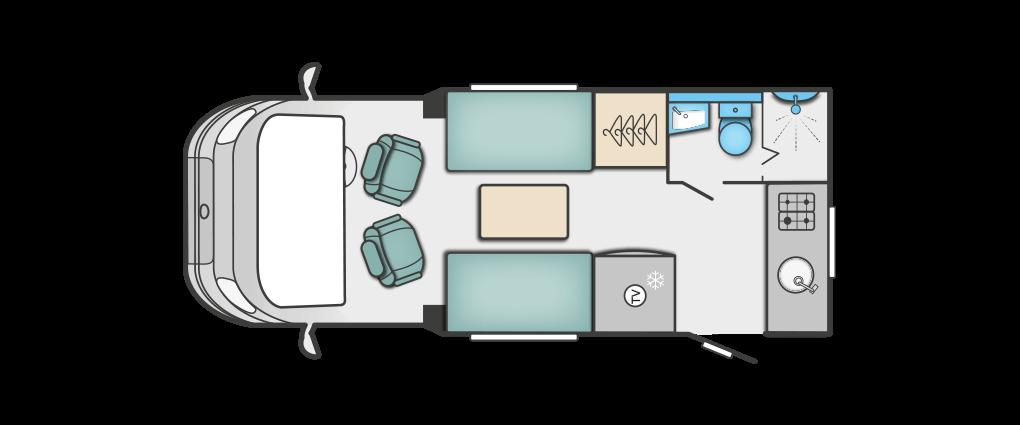 Swift Bessacarr 512 Floorplan