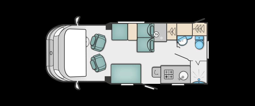 Swift Bessacarr 524 Floorplan