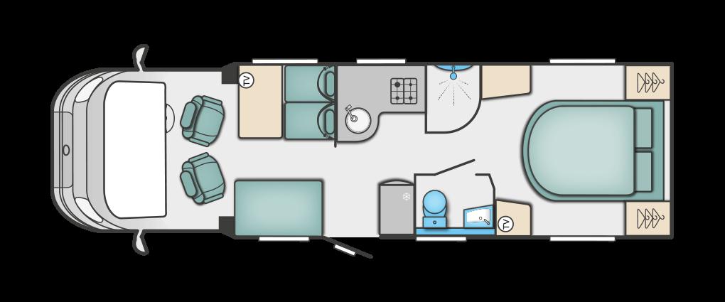 Swift Bessacarr 599 Floorplan