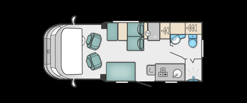 Swift Escape 604 Floorplan