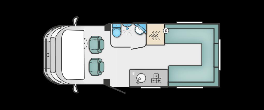Swift Escape 622 Floorplan