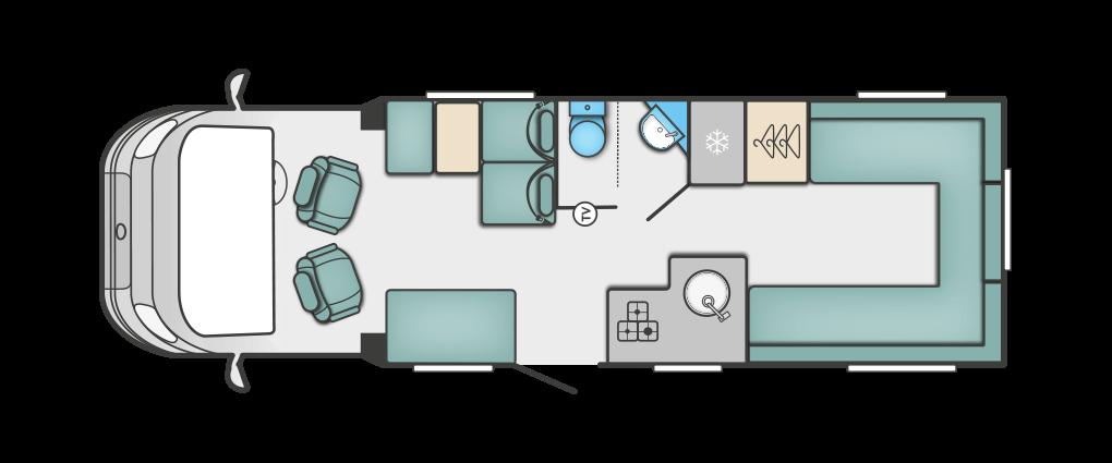 Swift Escape 674 2018 Floorplan