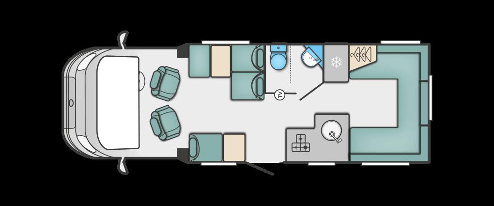 Swift Corniche Special Edition 685 Floorplan