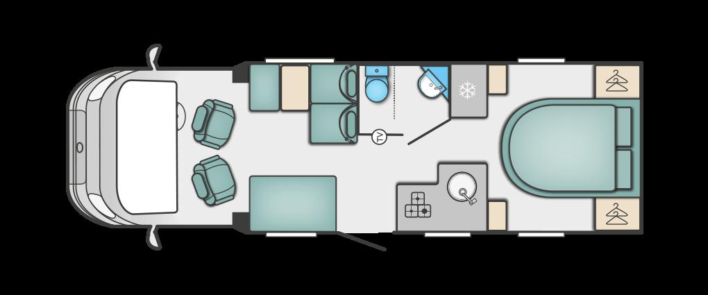 Swift Escape 694 Floorplan