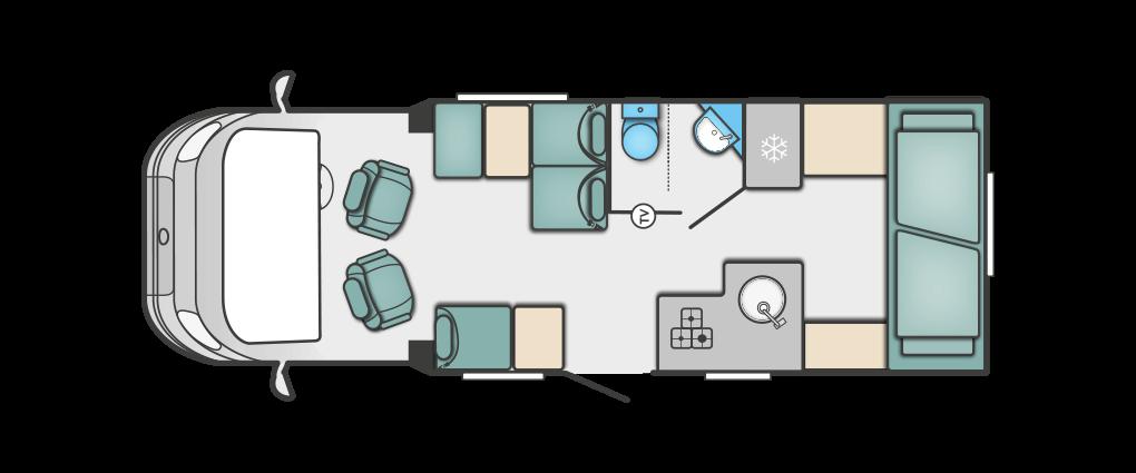 Swift Escape 695 Floorplan