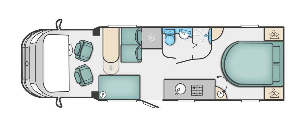 Swift Kon-tiki 625 Floorplan