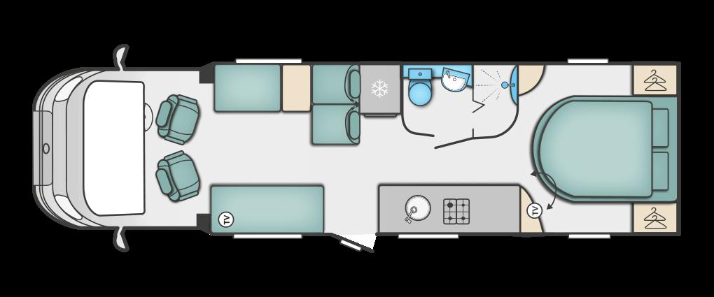 Swift Kon-tiki 669 Floorplan
