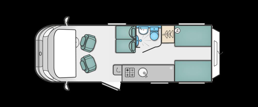 Swift Rio 340 Floorplan