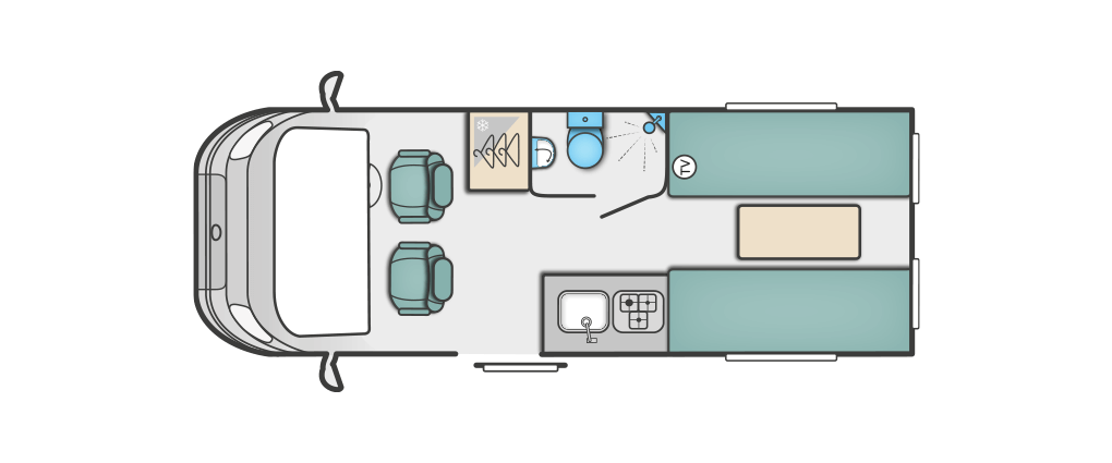 Swift Select 122 Floorplan