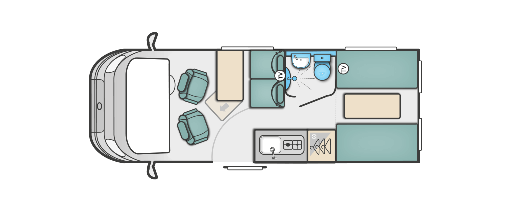 Swift Select 144 Floorplan