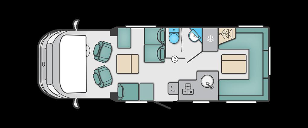 Swift Escape 685 Floorplan