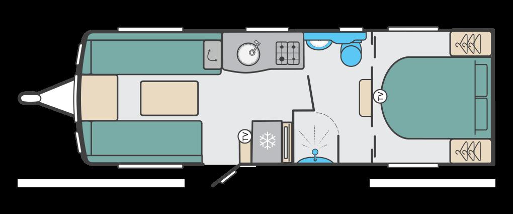 Swift Eccles 650 2020 Floorplan