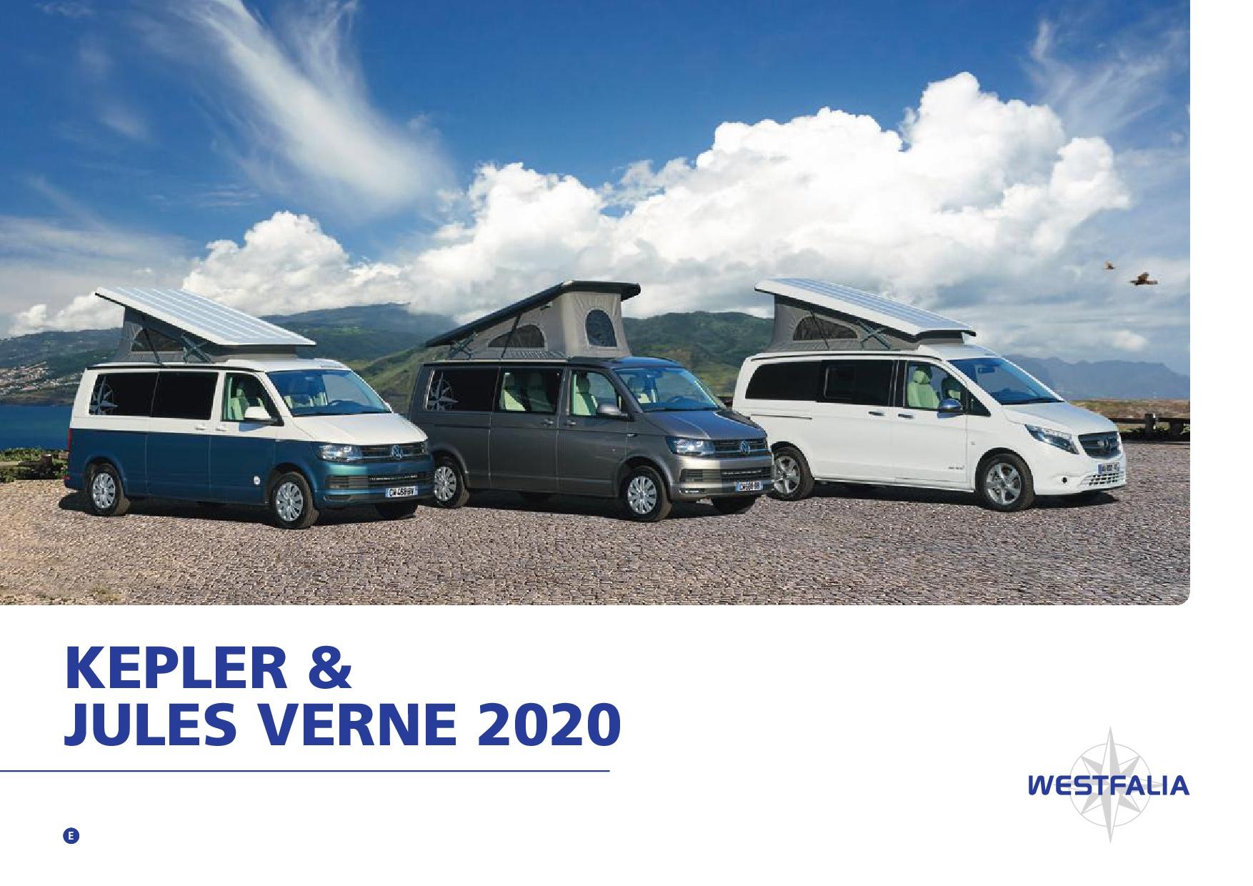 2020 Westfalia Kepler & Jules Verne Brochure