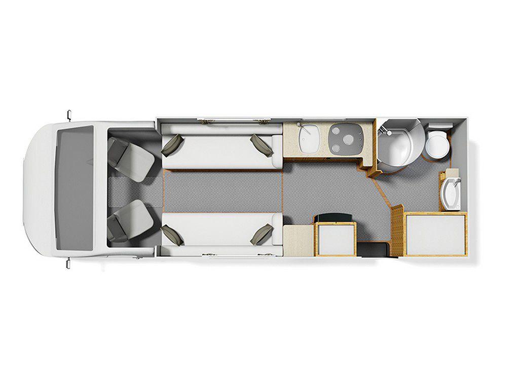 Elddis Marquis Majestic 175 2015 Floorplan