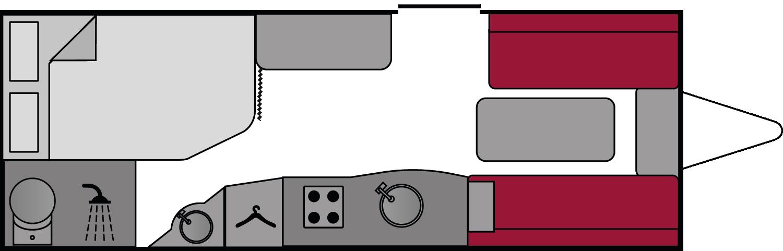 Swift Sprite Alpine 4 2018 Floorplan