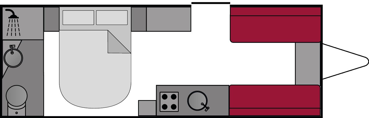 Swift Conqueror 645 2018 Floorplan