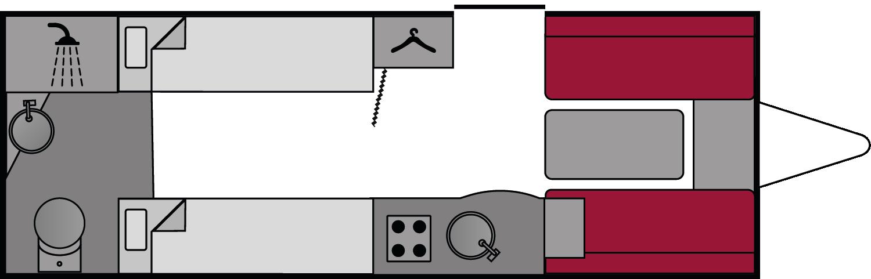 Lunar Quasar 554 2018 Floorplan