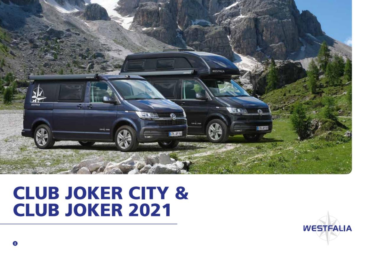 2021 Westfalia Club Joker Brochure