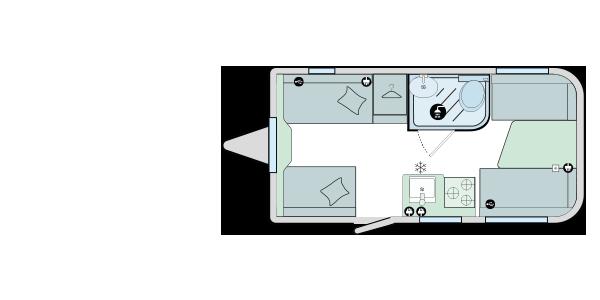 Bailey Discovery D4-3 2020 Floorplan