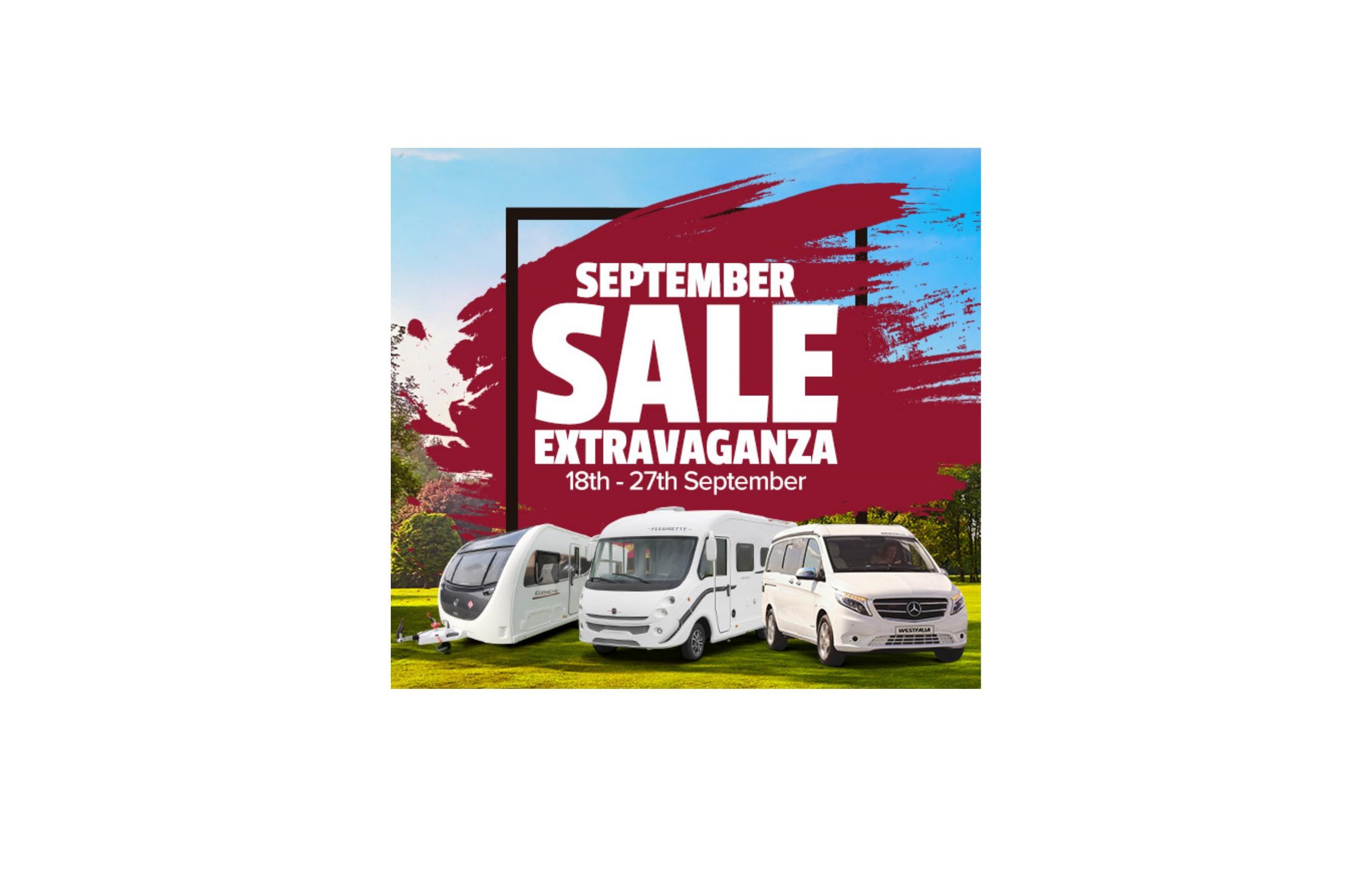 Join us for our September Sales Extravaganza