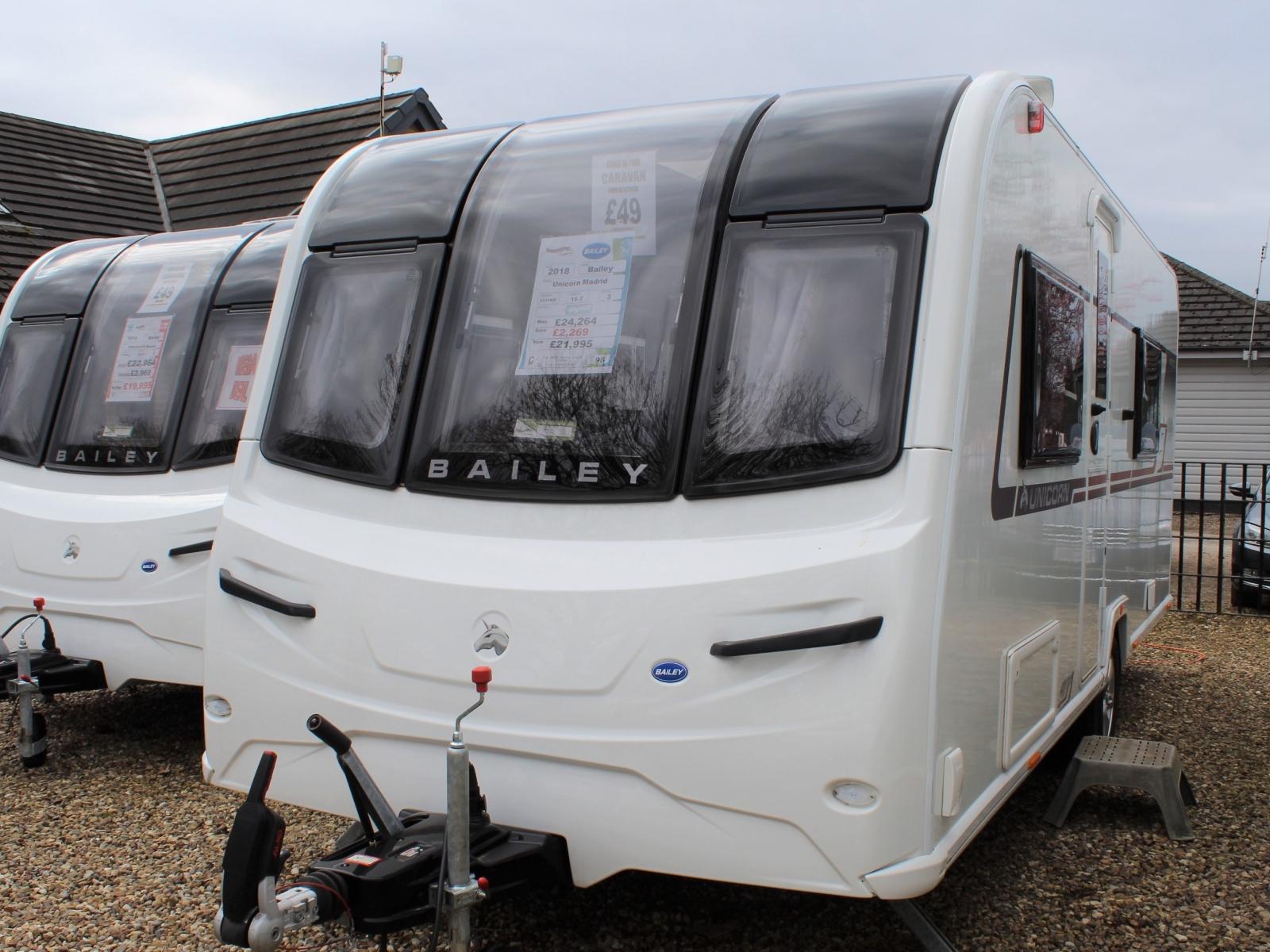 Bailey Unicorn Madrid 2018 New Caravans | Wandahome (South