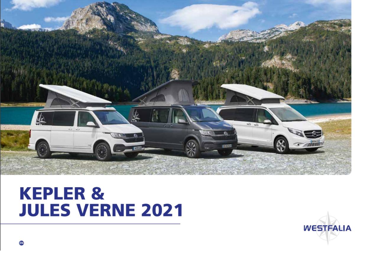 2021 Westfalia Kepler and Jules Verne brochure