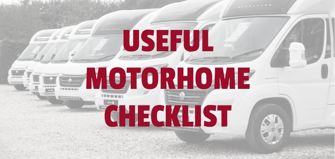 Useful Checklist for Motorhomes