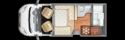 Roller Team T-Line  590 Floorplan