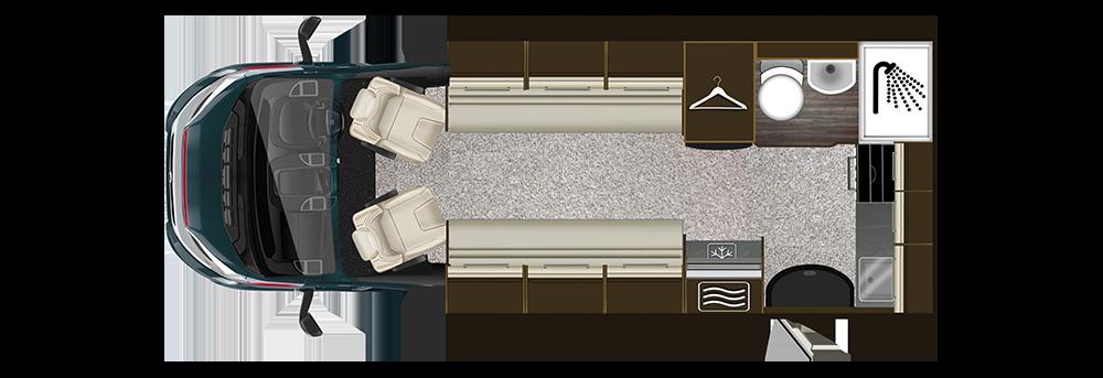 Auto-Trail Tribute T-615 Floorplan