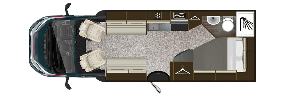 Auto-Trail Tribute T-715 Floorplan
