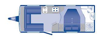 Bailey Pegasus 554 2010 Floorplan