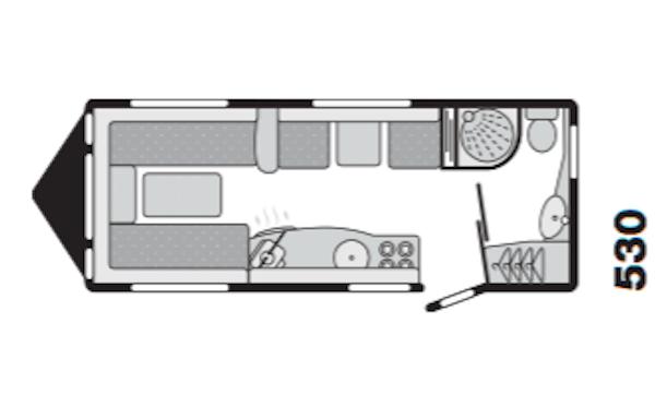 Swift Challenger 530 2007 Floorplan
