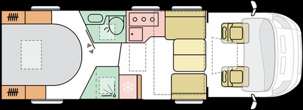 Adria Coral Supreme 670 DC (16727) Floorplan