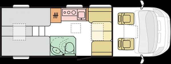 Adria Compact Supreme DL (16706) Floorplan