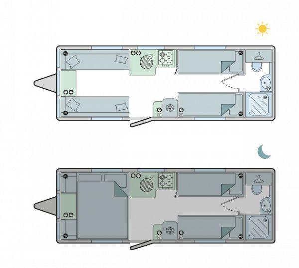 Bailey Unicorn Cadiz S5 2022 Floorplan