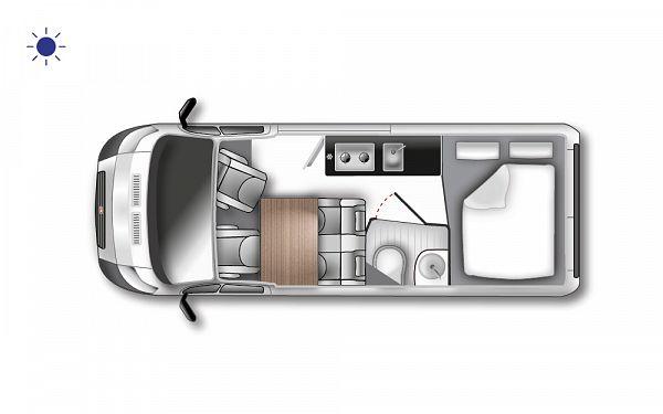 Westfalia Columbus 540 D (10180) Floorplan